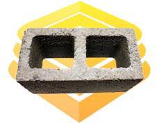 Сквозной керамзитобетонный блок