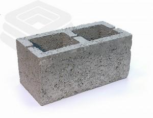 Керамзитобетонный блок с двумя пустотами