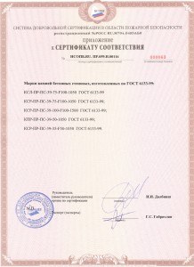 Пожарный сертификат керамзитоблоки