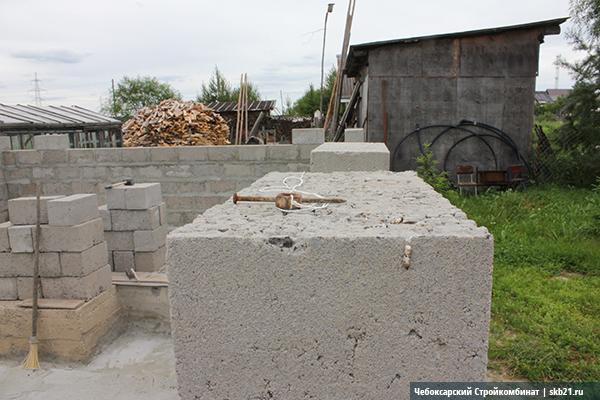 Стены бани из керамзитоблоков