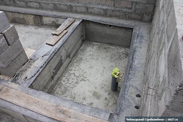 Небольшая баня из керамзитоблоков
